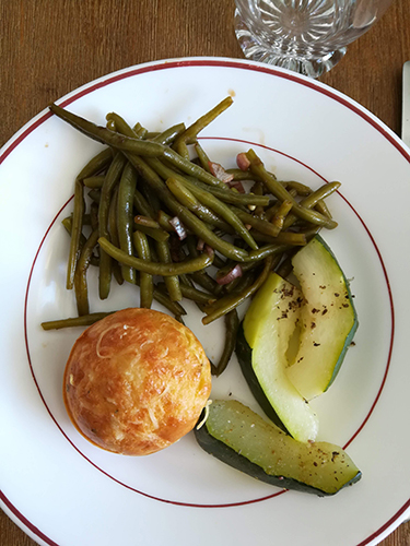 Assiette muffin pulpe de courgette