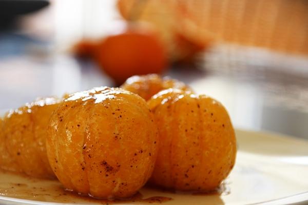 Clémentines caramélisées aux épices
