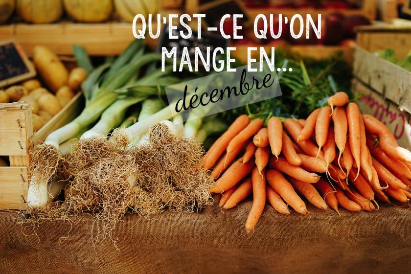 On mange quoi en Décembre