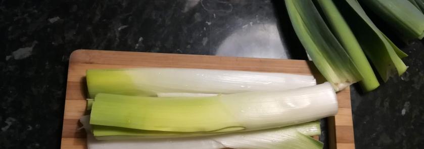 Rillettes de poireaux - étape 1